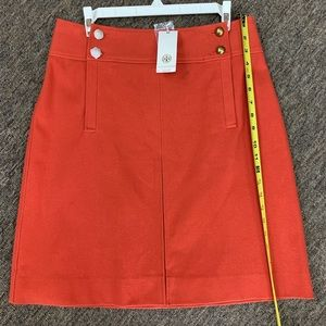 NWT tory Burch Thea skirt in red canton.